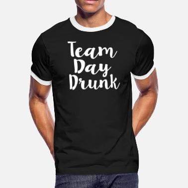 22095e1a Team Drunk Team Day Drunk - Men's Ringer T-Shirt
