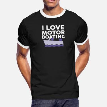 Boobs Boats I Love Motor Boating - Men's Ringer T-Shirt