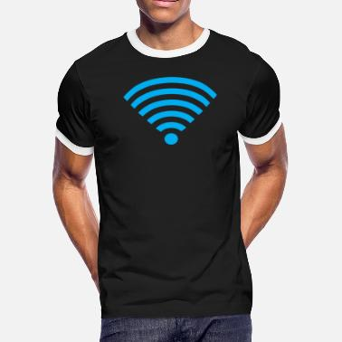 Wifi Signal Basement Mastermind Wifi Signal Strength - Men's Ringer T-Shirt