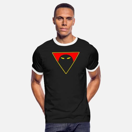 Ghost T-Shirts - Space Ghost Men s cool - Men's Ringer T-Shirt black/white