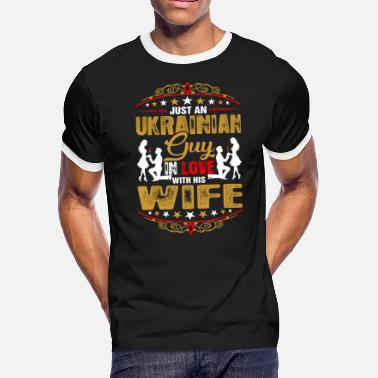 Ukrainian Heart Just An Ukrainian Guy Love His Wife - Men's Ringer T-Shirt