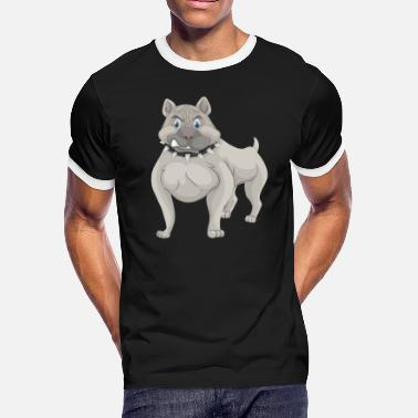 Dog Collar Pitbull Dog With Spike Collar - Men's Ringer T-Shirt