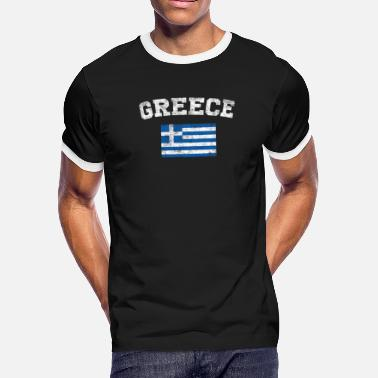 Greece Greece Flag Shirt - Vintage Greece T-Shirt - Men's Ringer T-Shirt