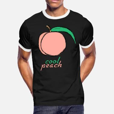 Peach Coloring Cool peach four design - Men's Ringer T-Shirt