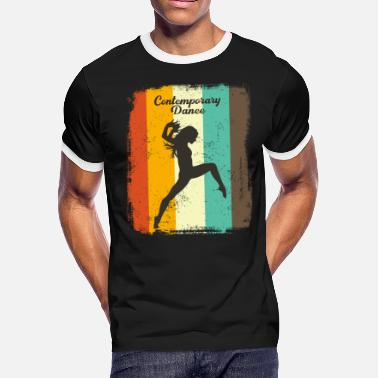 Contemporary Dance Contemporary Dancer Retro 70s Vintage Dancing Gift - Men's Ringer T-Shirt