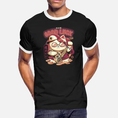 Lucky Cat - Men's Ringer T-Shirt