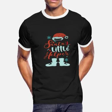 Santas Little Helper Santas Little Helper - Men's Ringer T-Shirt