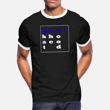 wtf(ood)? Simple saying-shirt. Gift Idea - Men's Ringer T-Shirt