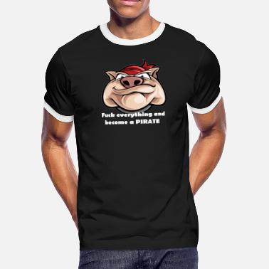 Pirate Hunter Pirate boar - Men's Ringer T-Shirt