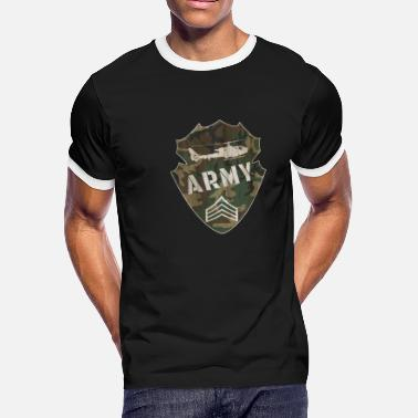 Army Emblem Army Emblem / Military / Helicopter / Gift Present - Men's Ringer T-Shirt