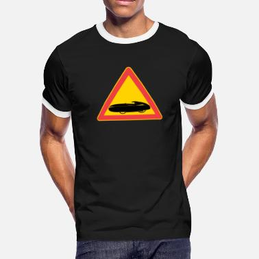 Traffic Sign Traffic sign velomobile - Men's Ringer T-Shirt