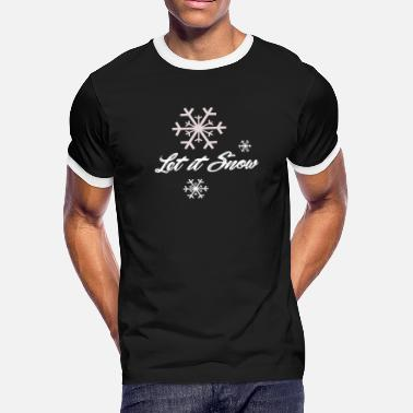 Ice Freestyle let it snow Winter Skiing gift idea freestyle - Men's Ringer T-Shirt