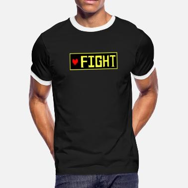 Determination Undertale - FIGHT - Men's Ringer T-Shirt