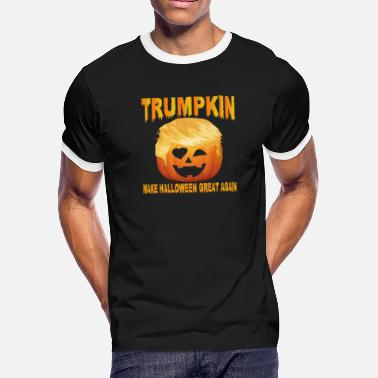 Hello Darkness Trumpkin Make Halloween Great Again Shirt - Men's Ringer T-Shirt