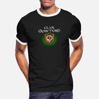 Family Reunion Celtic Crawford Surname Scottish Clan Tartan Crest Badge - Men's Ringer T-Shirt