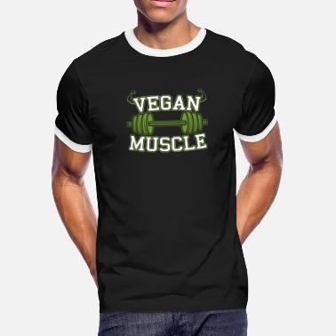 44a49662 Vegan Muscle Vegan Bodybuilding Fitness Gift - Men's Ringer T-Shirt