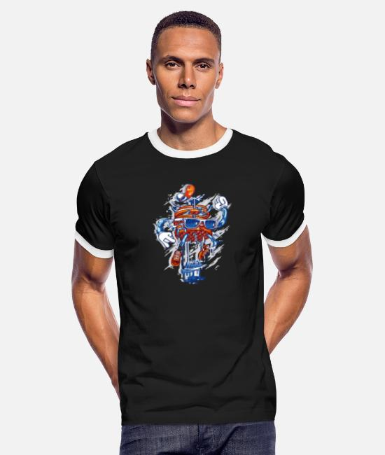 Jumping Spot T-Shirts - Jump - Men's Ringer T-Shirt black/white