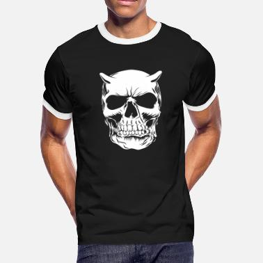 Big Face skull negatif - Men's Ringer T-Shirt