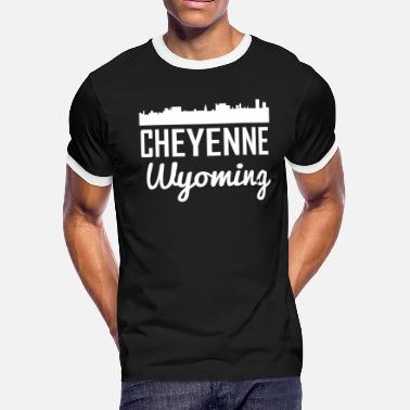 Cheyenne Wy Cheyenne Wyoming Skyline - Men's Ringer T-Shirt