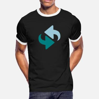 Cycle Symbol Cycle Arrows - Men's Ringer T-Shirt