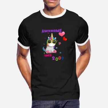 2009 Unicorn Awesome Since 2009 - Men's Ringer T-Shirt
