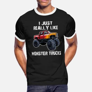 I Just Really Like Monster Trucks - Men's Ringer T-Shirt