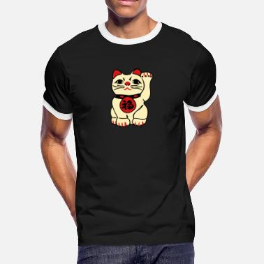Belief good fortune cat - Men's Ringer T-Shirt