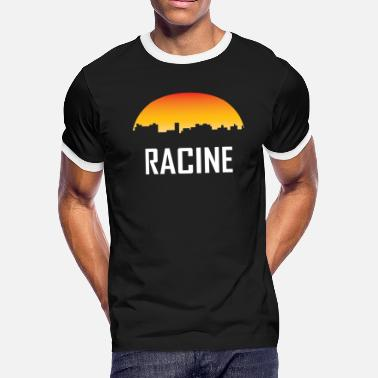 Racine Wi Racine Wisconsin Sunset Skyline - Men's Ringer T-Shirt