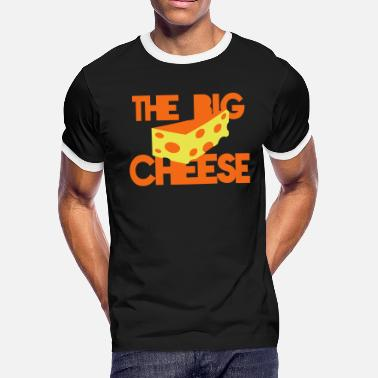 Cheesy BOSS the big cheese swiss cheese office bosses - Men's Ringer T-Shirt