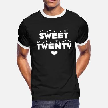 Twenties Sweet Twenty Happy Twenty Birthday - Men's Ringer T-Shirt