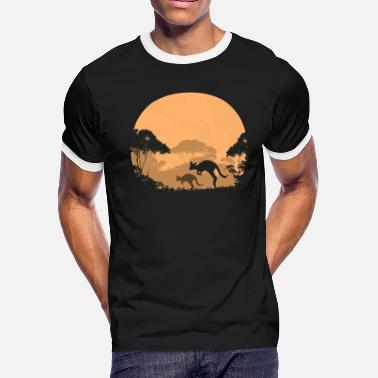 Outback Australian outback in the night - Men's Ringer T-Shirt
