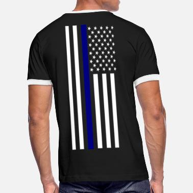 Blue Thin Blue Line - Men's Ringer T-Shirt