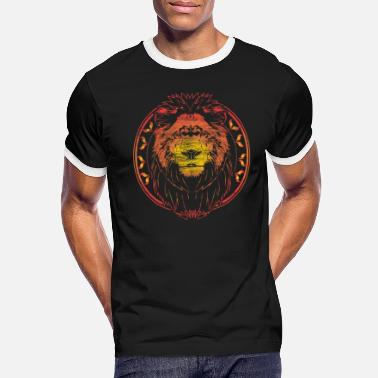 Lion Head Lion serengeti Animal Gift - Men's Ringer T-Shirt