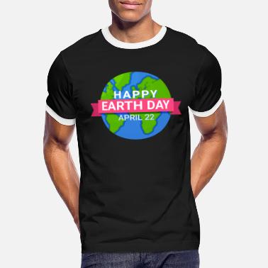 Pollute Happy Earth Day - Earth Day April 22 - Men's Ringer T-Shirt