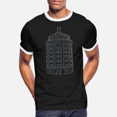 Prenzlauer Berg Water tower Berlin - Men's Ringer T-Shirt