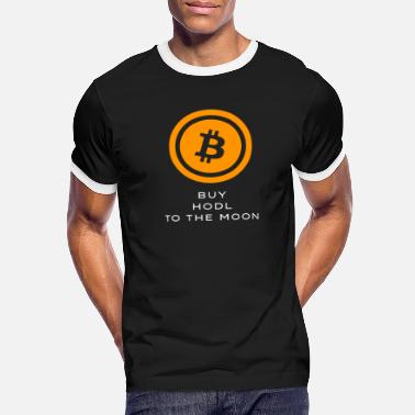 Logo Bitcoin Buy Hodl To the Moon BTC crypto - Men's Ringer T-Shirt