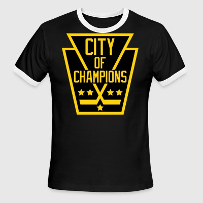 City of Champions - Black and Gold - Men's Ringer T-Shirt