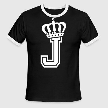 Name: Letter J Character J Case J Alphabetical J - Men's Ringer T-Shirt