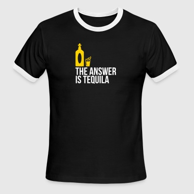 The Answer Is Tequila - Men's Ringer T-Shirt