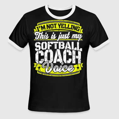 Funny Softball coach: My Softball Coach Voice - Men's Ringer T-Shirt