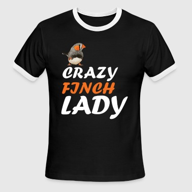 crazy Finch lady - Men's Ringer T-Shirt
