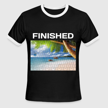 Beach Puzzle Finished - Men's Ringer T-Shirt