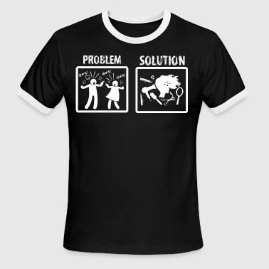 Problem Solution Hairdressing - Men's Ringer T-Shirt