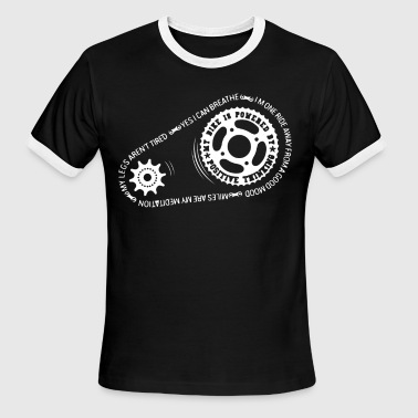 My Bike Is Powered By Positive Thinking - Men's Ringer T-Shirt