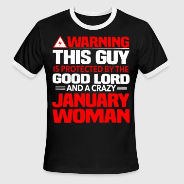 warning this man is protected by the good lord and - Men's Ringer T-Shirt