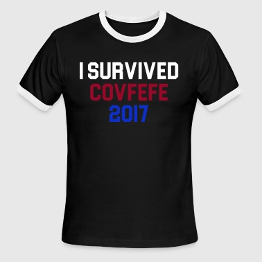 I Survived Covfefe 2017 - Men's Ringer T-Shirt