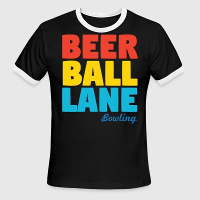 Beer Ball Lane Bowling - Men's Ringer T-Shirt