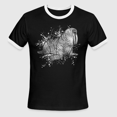 Walrus Tee Shirt - Men's Ringer T-Shirt