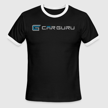Car Guru - Emblem Logo - Men's Ringer T-Shirt