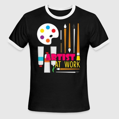 ARTIST AT WORK SHIRT - Men's Ringer T-Shirt